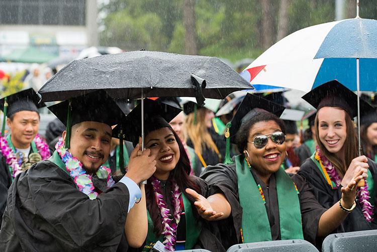 Raining at Graduation